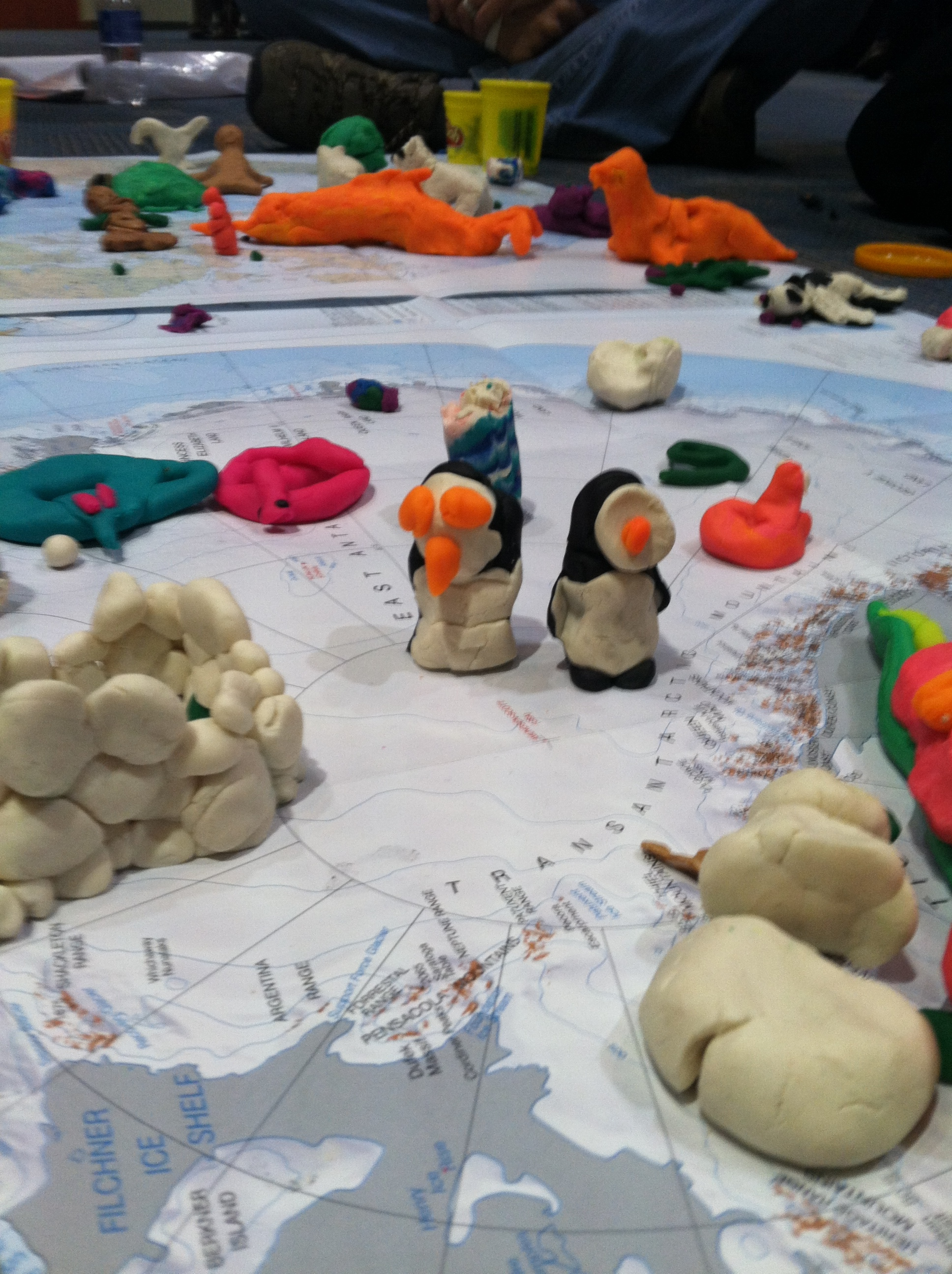 Polar Play-Doh Animals. Photo: S. Bartholow