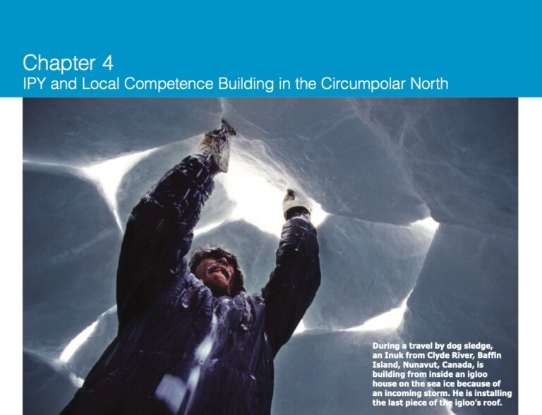 Chapter 4: IPY and Local Competence Building